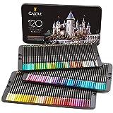 Castle Art Supplies Juego de 120 lápices de colores para adultos, artistas profesionales, con núcleo suave para capas…