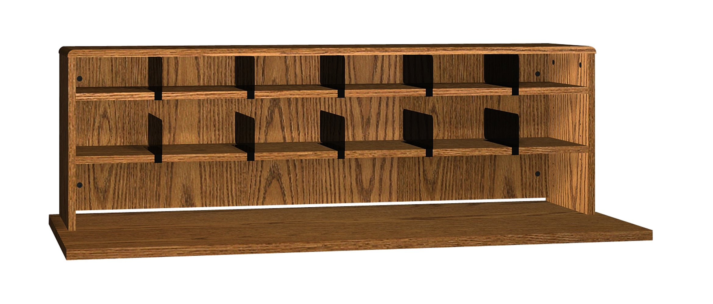 Ironwood 2 Shelves Desk Top Organizer, 56'', Dixie Oak (DTO56DO)