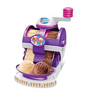 Cra-Z-Art The Real Ice Cream Maker withBuilt In Sprinkler Dispenser and Lite Up Cone