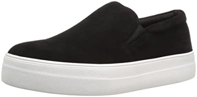 Steve Madden Women's Gills Fashion Sneaker, Black Suede, ...