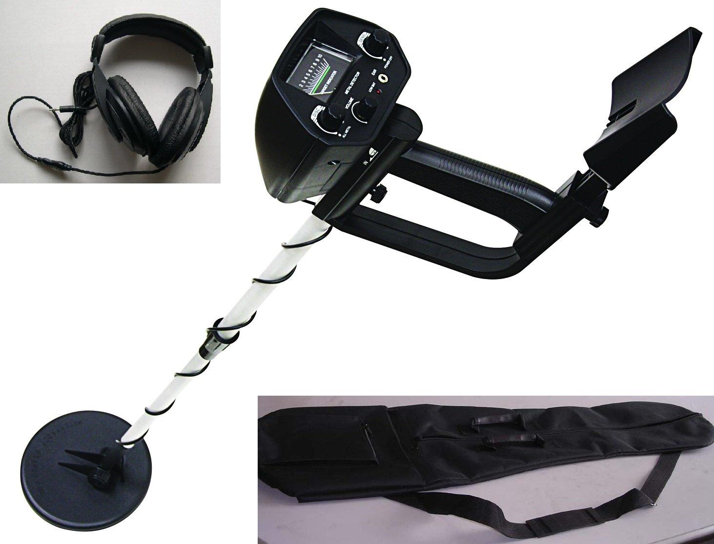 American Hawks Explorer Metal Detector Arm Support, View Meter, Waterproof Search Coil with Headphone, Bag, Batteries