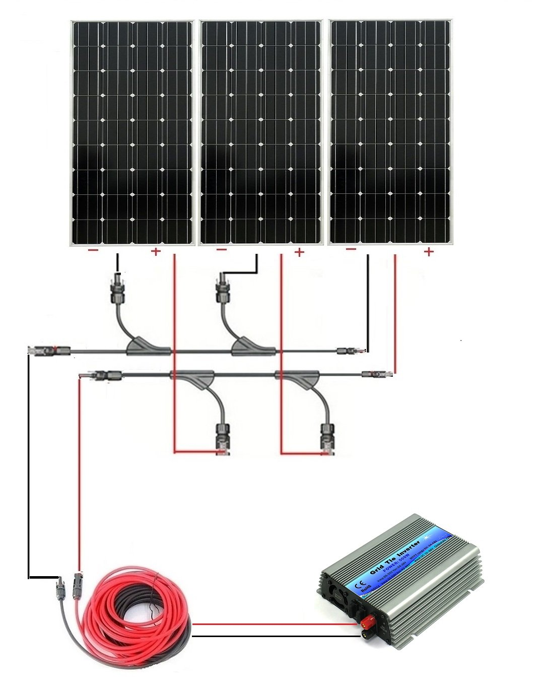 500w Solar Inverter Grid Tie Wiring Diagram Schematic Diagrams Eco Worthy 12v Off Complete Panel Kit 3pcs 160w Outback