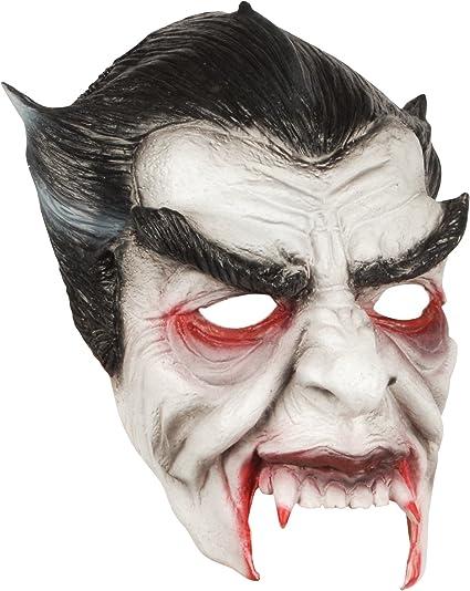 Amazon.com: Loftus Halloween Horror Vampire Face Mask, White Black ...