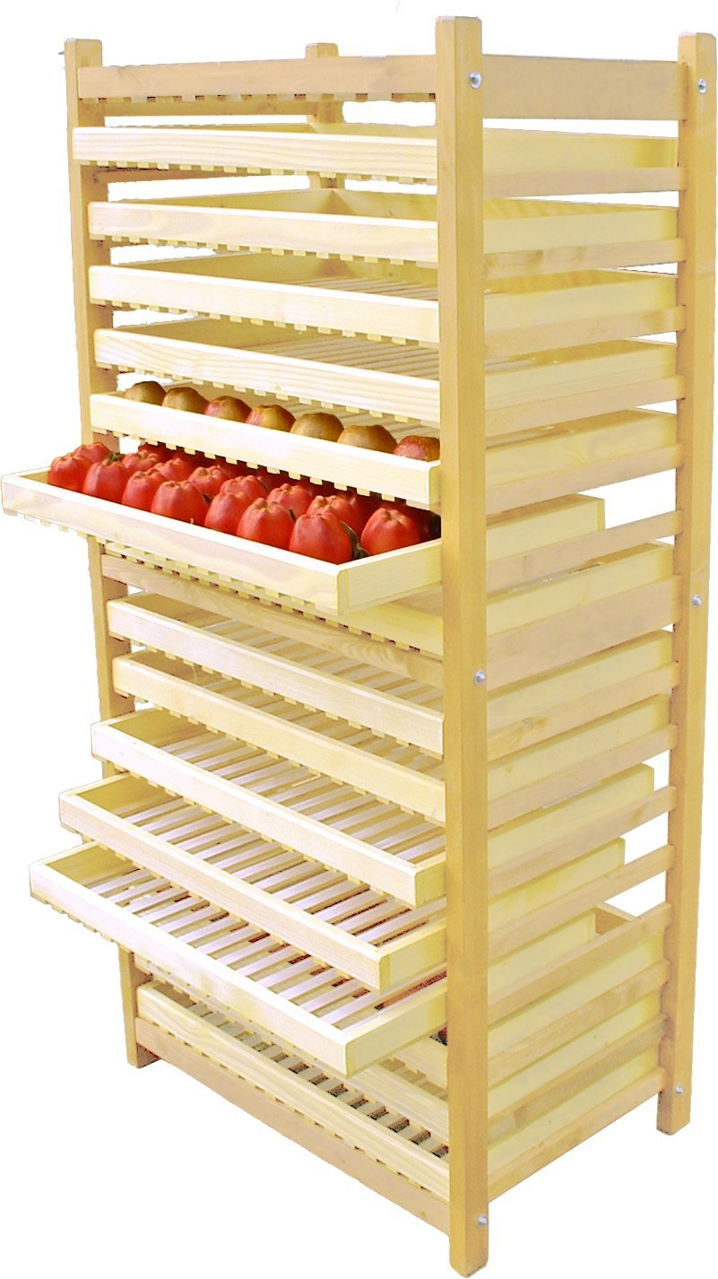 Obstregal - Apfelhorde (15 Fächer) aus Holz (Kiefer massiv): Amazon ...