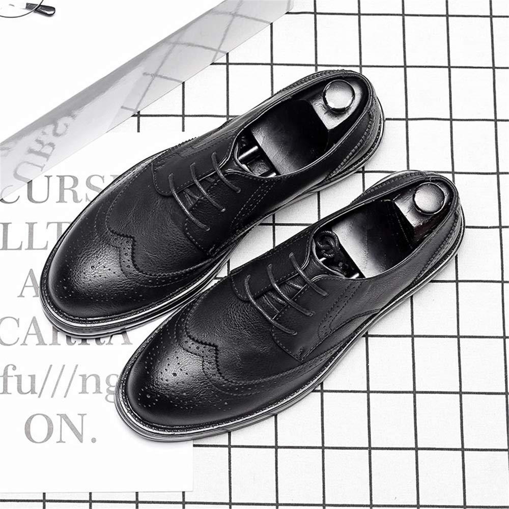 2018 Scarpe Stringate Basse Scarpe da da da uomo casual classiche Oxford di moda respirano scarpe stile brogue suola britannica (in pelle verniciata opzionale) ( Colore   Nero , Dimensione   40 EU ) f9e3d7