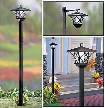 Lampadaire d\'extérieur Solalite®, pour le jardin, avec éclairage à énergie  solaire, 1,5 m, noir