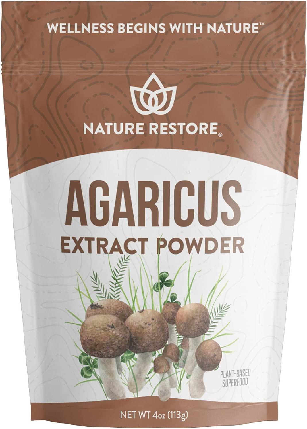 Agaricus Blazei Murill Extract Mushroom Powder, 4 Ounces, 40% Polysaccharides, Non GMO, Gluten Free