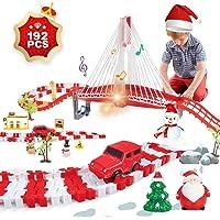Lucky Doug Christmas Race Car Track Toys with Lights Sounds
