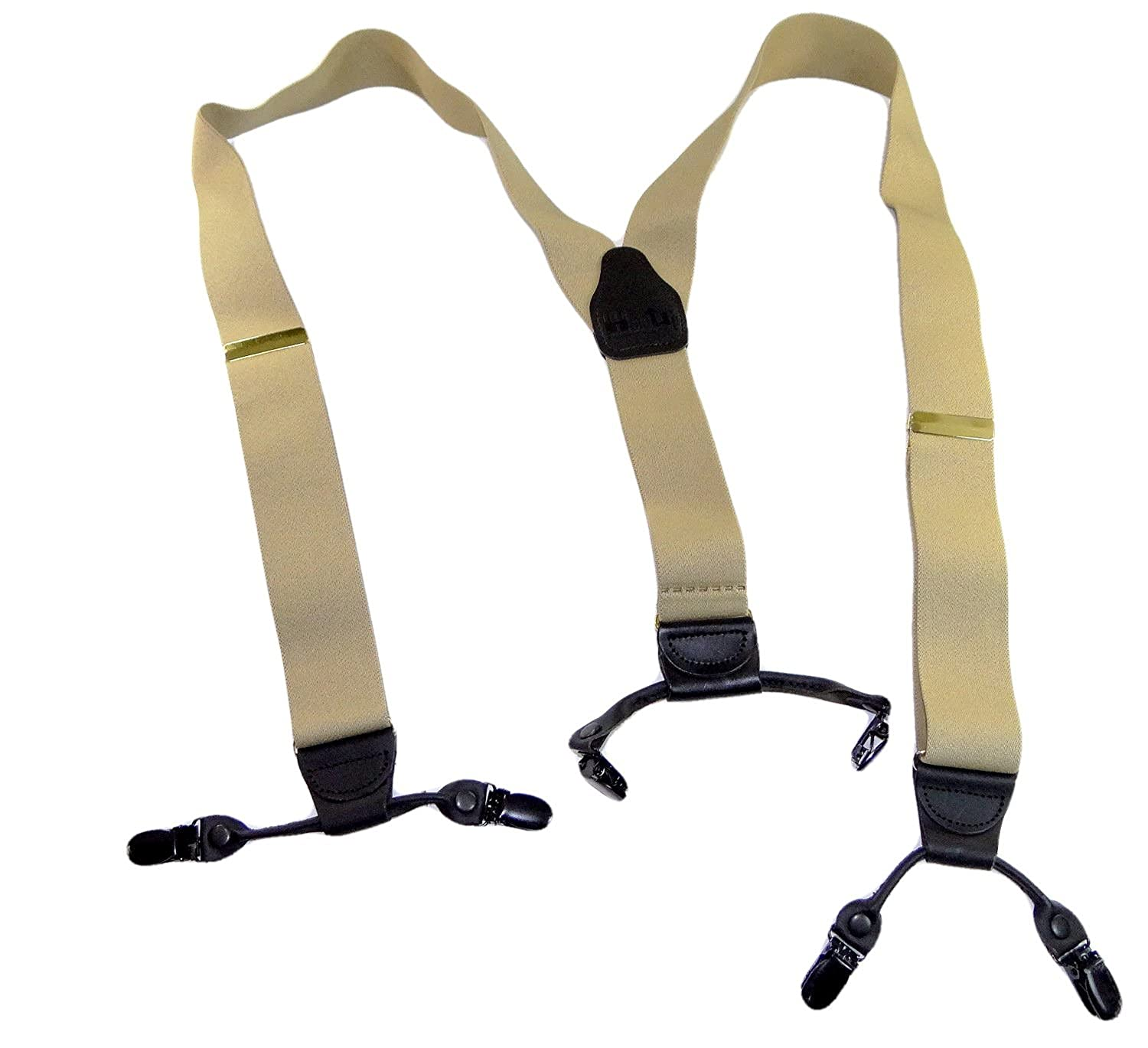 Hold-Ups Sand Dunes Tan XL 54 Longer Double-Ups Hold-up Dual-Clip Suspenders 5108XLB