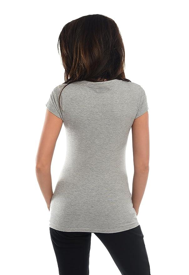 Camiseta de Embarazo Algodon Tshirt de Maternidad Premamá Estampado Bow 2007: Amazon.es: Ropa y accesorios