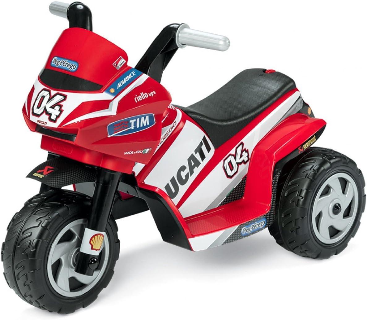 Peg Perego–Mini Ducati Trimoto eléctrica, MD0005, Rojo