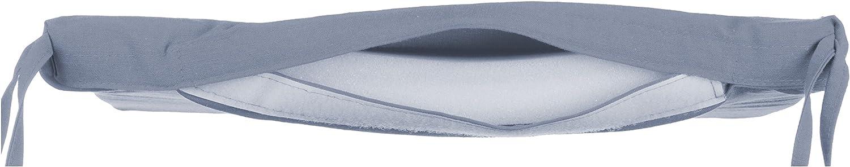 1 pi/èce Uni avec 4 sangles pour un maintien s/ûr anthracite Microfibre Brandsseller Coussin de chaise