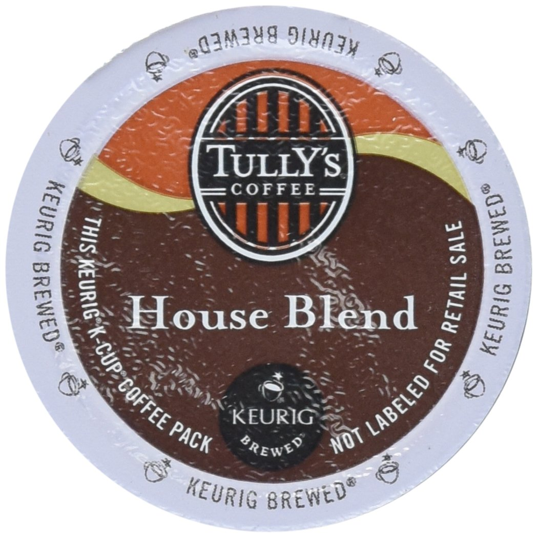 Tully's Coffee, House Blend, K-Cup for Keurig K-Cup Brewers (MEDIUM ROAST COFFEE-EXTRA BOLD) (Pack of 96) by Tully's Coffee