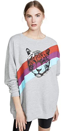 03d9df27471 Wildfox Women's Tiger Stripes Sweatshirt at Amazon Women's Clothing ...