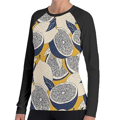 3ebd9c98 Abstract Art Lemon Pattern Women's Raglan Long Sleeve T-Shirt Casual Sports  Shirts at Amazon Women's Clothing store: