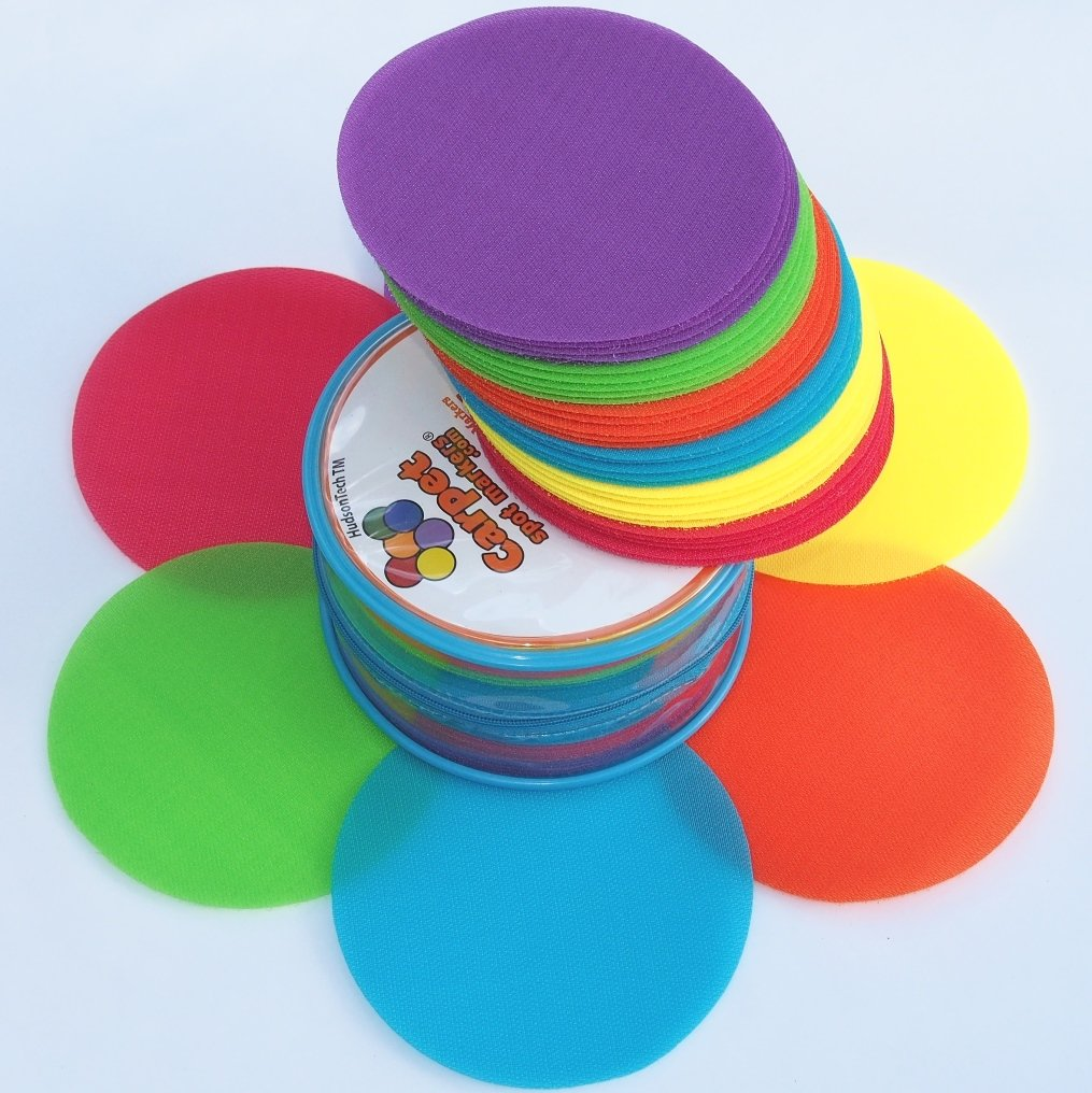 Carpet Spot Sit Markers x 30 Classroom Circles for Teachers Carpet Spot Markers