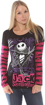Jack Skellington Womens Junior Fit Shirt