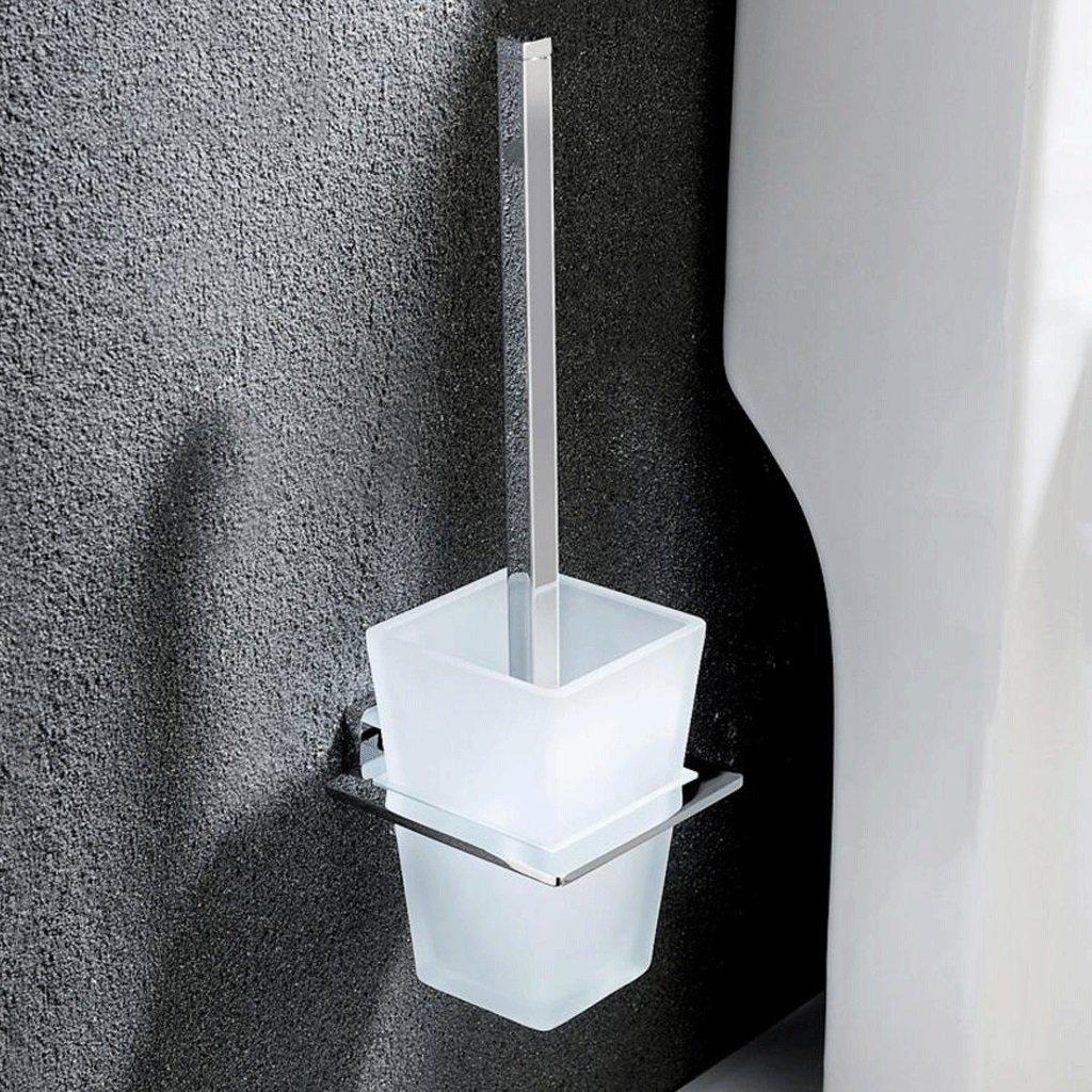トイレブラシ シンプルファッションウォールマウント純銅トイレトイレブラシトイレブラシホルダーアトマイズガラストイレブラシカップ B07BVZGRKR