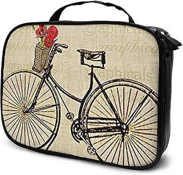 Bicicleta vintage con flores Imagen Rectángulo Maquillaje de viaje ...