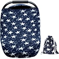 ARNZION Baby Car Seat Covers for Baby Boys Girls Versatile Stretchy Babies Car Seat Cover Set Twinkle Stars Printing…