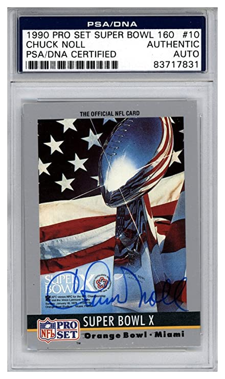 b7fe49221 Chuck Noll Autographed Signed 1990 Pro Set Super Bowl Card  10 Pittsburgh  Steelers - PSA