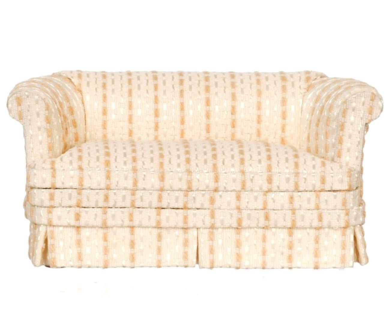 激安店舗 Dolls House Furniture Miniature Cream Platinum Living Room Furniture Cream Tan Tan Stripe Sofa B01BF9DDTO, JEWELCAKE:9197bca4 --- diceanalytics.pk