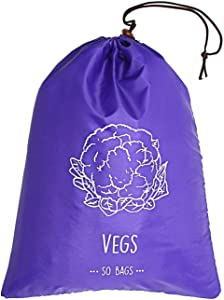 Reusable Veggies Storage Bag Keep it Longer Up to 2 Weeks Stop Food Waste