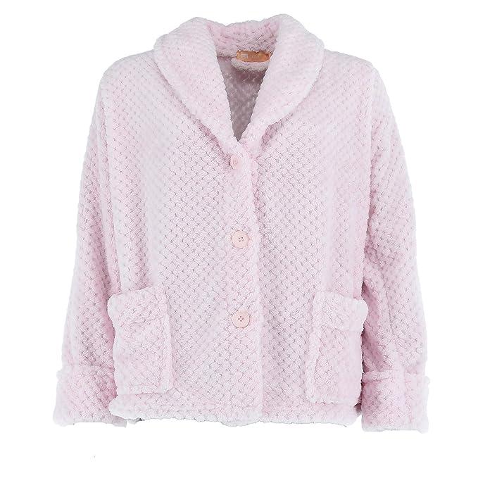 La Cera Abrigo de cama con botones para mujer: Amazon.es: Ropa y accesorios
