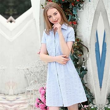 Smx Vestidos vestidos de noche Mujeres Casual Mini Vestido vestidos de gasa  Vestido de verano Moda AtractivaPequeño formato fresco vestidos de textura. e3d283829dc4