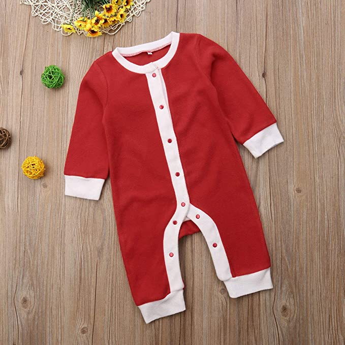 FASBB Baby Boy Girl Christmas Knitwear Long Sleeve Sweaters Santa Rompers Bodysuits JumpsuitBaby Xmas Clothes