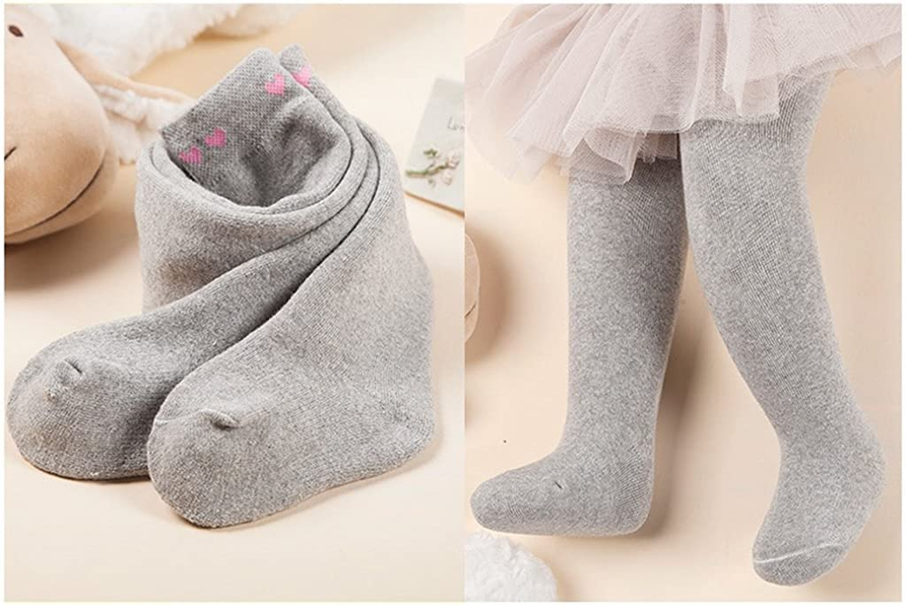 CALYFER Baby Toddler Girls Thicken Cute Love Pattern Solid Stretch Tights
