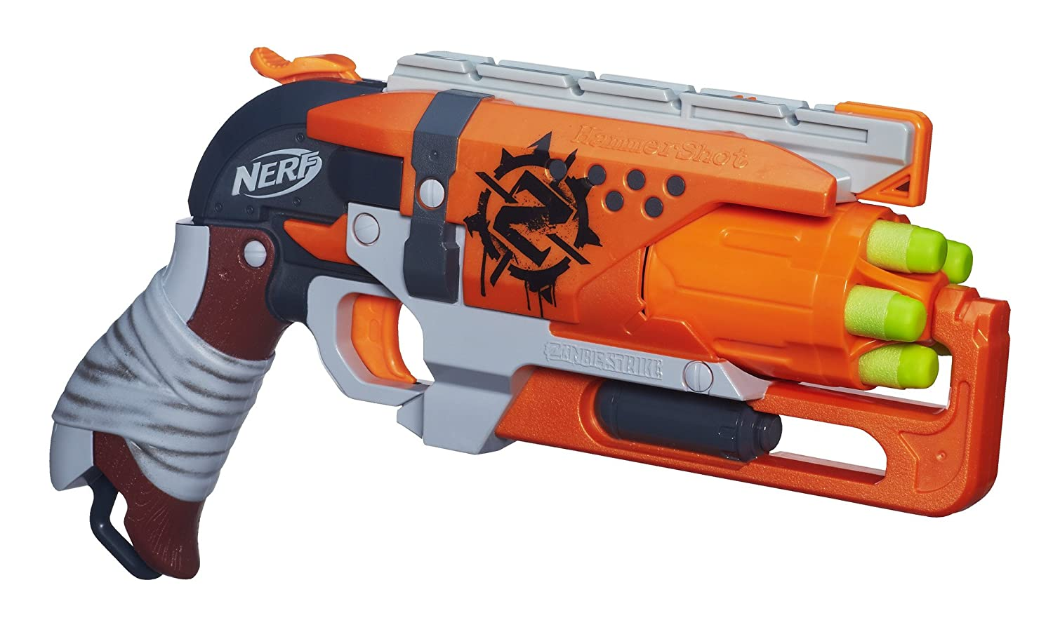 Although I have the Nerf N-Strike GlowShot Blaster listed as the best Nerf  gun for a 4-year-old, it's really great for any age. This small pocket  blaster ...
