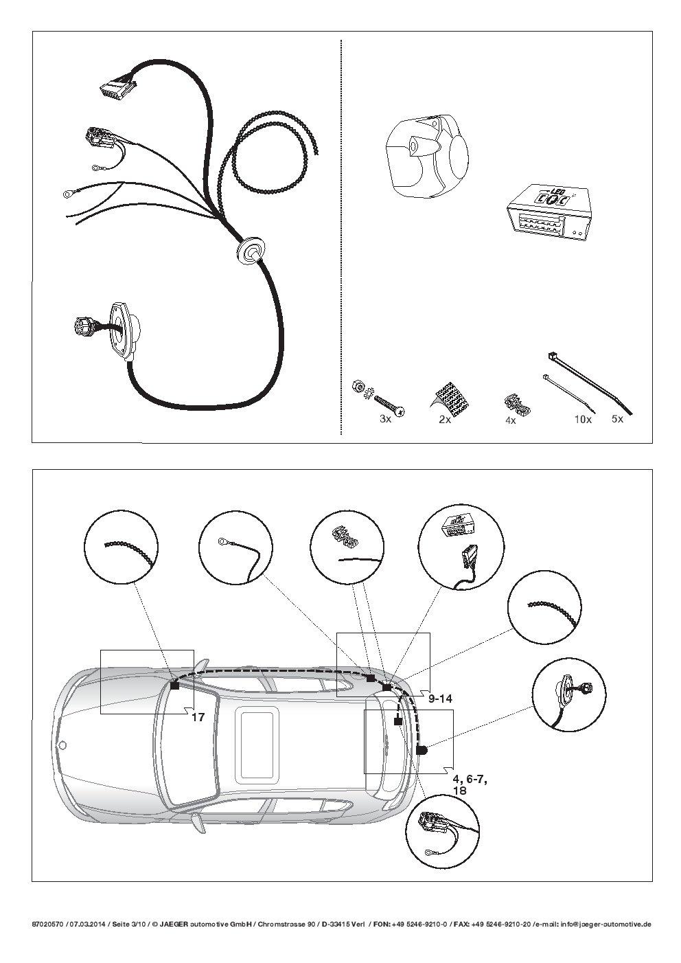 Umbra AHK Vertical Remolque Desmontable con 7p Índice Fischer S Juego de ut060cor26z1vmm/ws12020507de2: Amazon.es: Coche y moto