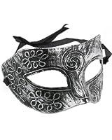 Veewon Masque vénitien pour masques masque masque pour fête, balle de fantaisie, bal masqué, Halloween (Argent)