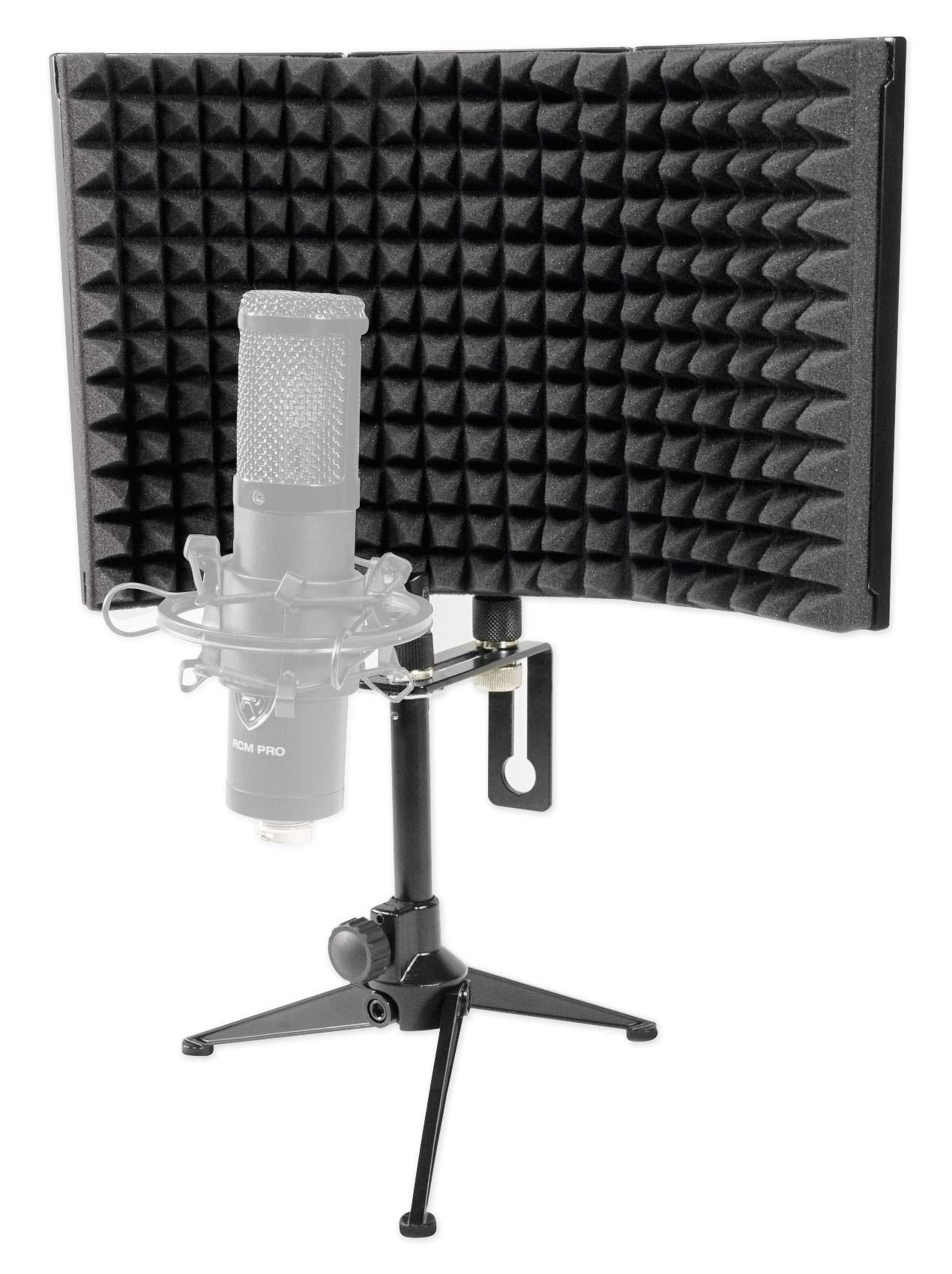 Rockville RockShield 1 Studio Microphone Isolation Shield w/Sound Dampening Foam