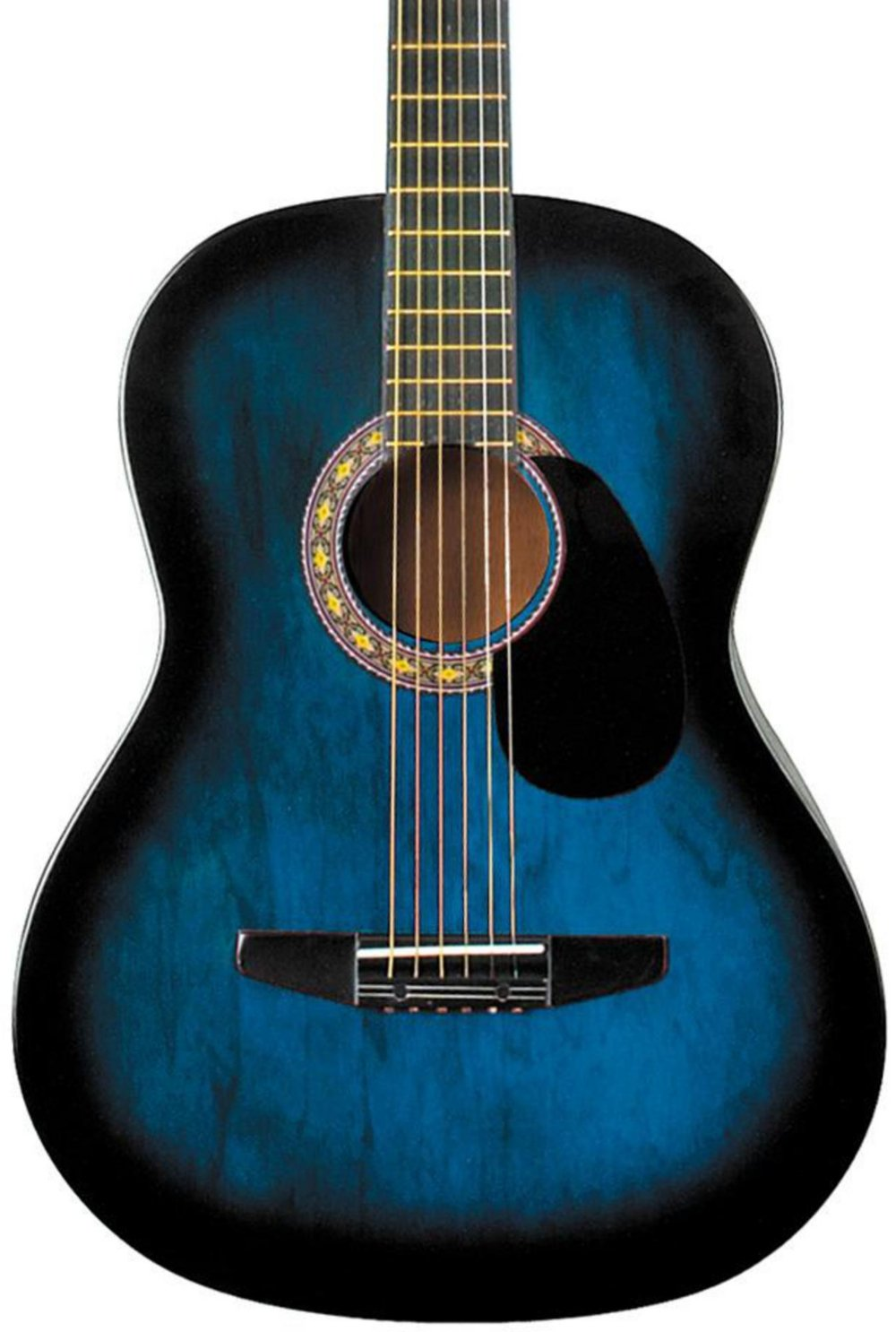 Rogue Starter Acoustic Guitar Blue Burst by Rogue