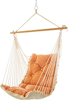 product image for Nags Head Hammocks Adaptation Apricot Sunbrella Tufted Single Swing with Free Hanging Hardware, 350 LB Weight Capacity, Handcrafted in The USA, Perfect for Indoor or Outdoor Use