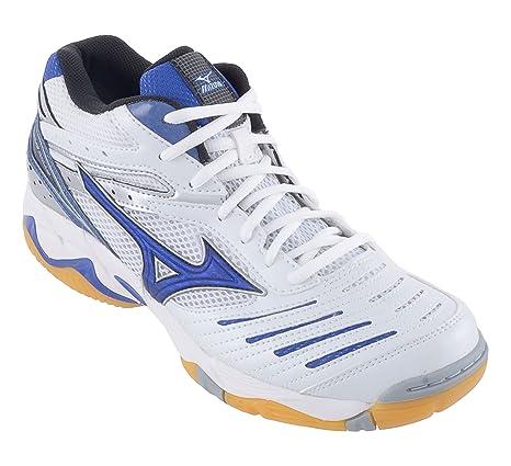 Mizuno - Zapatillas de Voleibol para Hombre White BLU Size: 45