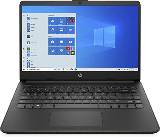 "HP - PC 14s-fq0037nl Notebook, AMD 3020e, RAM 4 GB, eMMC 64 GB, Grafica AMD Radeon, Windows 10 Home S, Schermo 14"" HD SVA, USB-C, HDMI, Webcam TrueVision 720p, RJ-45, Nero"