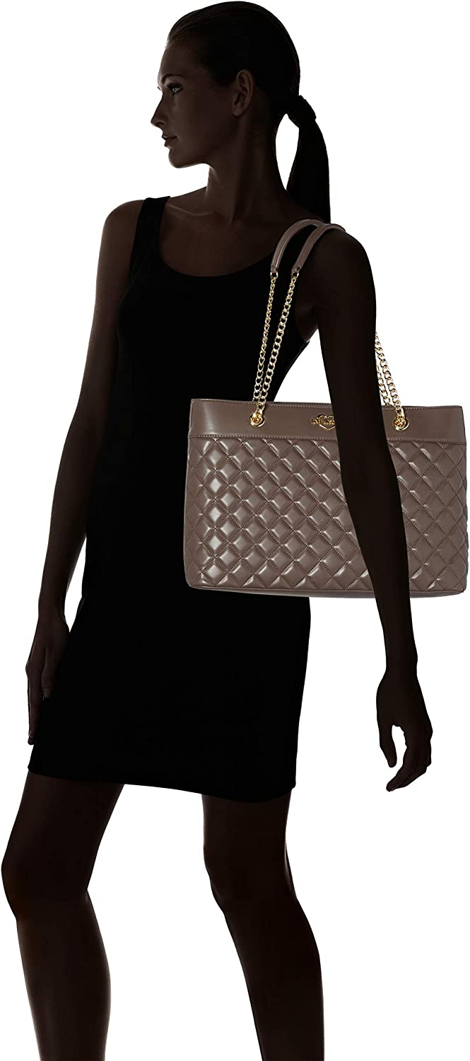 Love Moschino Borsa Quilted Nappa Pu, Cabas Gris (Taupe)
