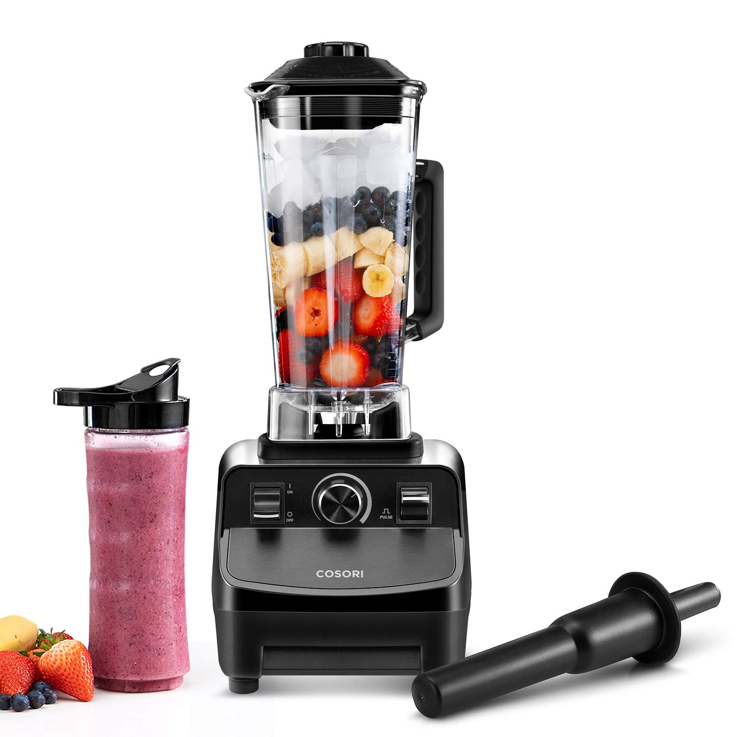 COSORI C900 Pro Countertop Blender for Shakes and Smoothies,1400-Watt Base 60oz Pitcher & 20oz Travel Bottle, 2-Year Warranty, ETL FDA Approved (Recipe Book included) 141[並行輸入]   B07MPBCKGT
