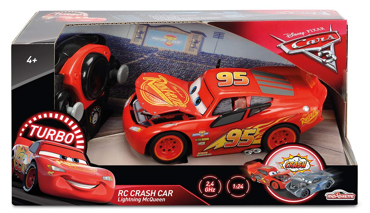 Majorette Cars 3 Crash 1/24 Car Flash McQueen 7/213084018WEB Red