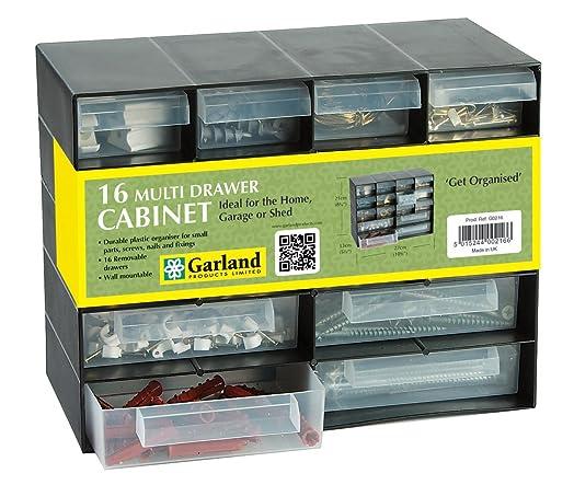 Plastic 16 Multi Drawer Storage Cabinet Organiser For Home Garage ...