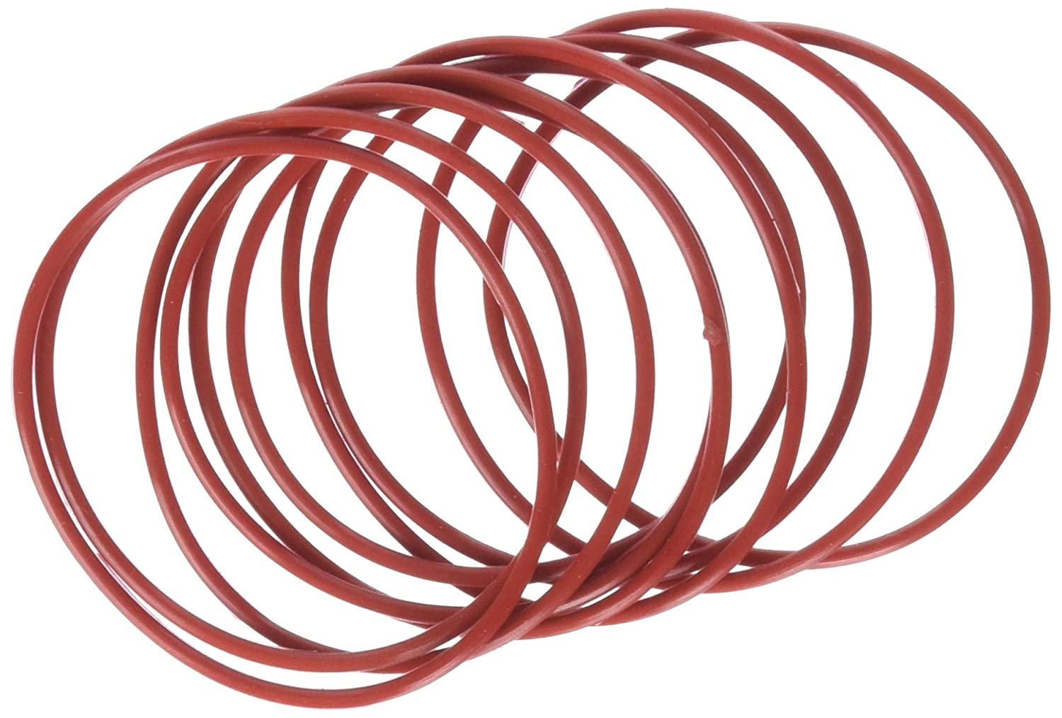 Uxcell Mechanical Rubber O Ring Oil Seal Gaskets (10 Piece), Red, 58mm x 2mm
