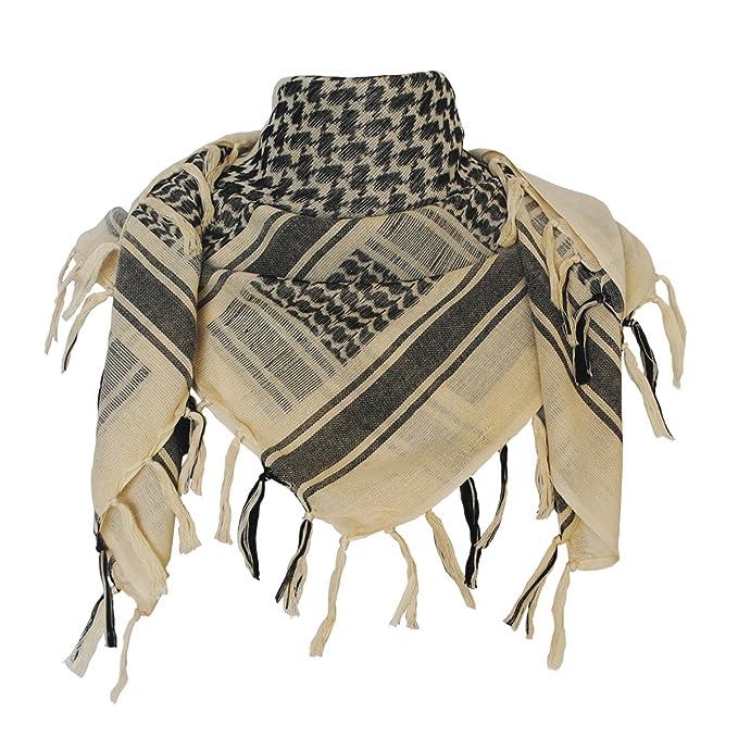 0ea31eab43dd Explore Land 100 % coton militaire Shemagh désert tactique keffieh foulard  Wrap (Tan)
