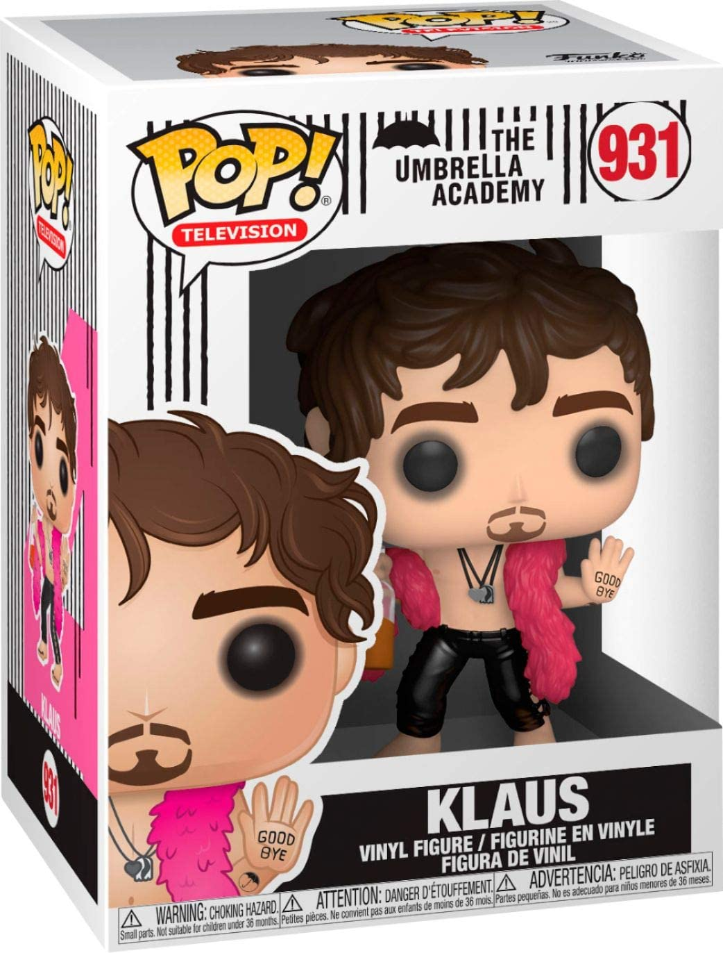 Bundled with a Pop Box Protector Case Klaus Hargreeves #931 Vinyl Figure The Umbrella Academy Pop TV