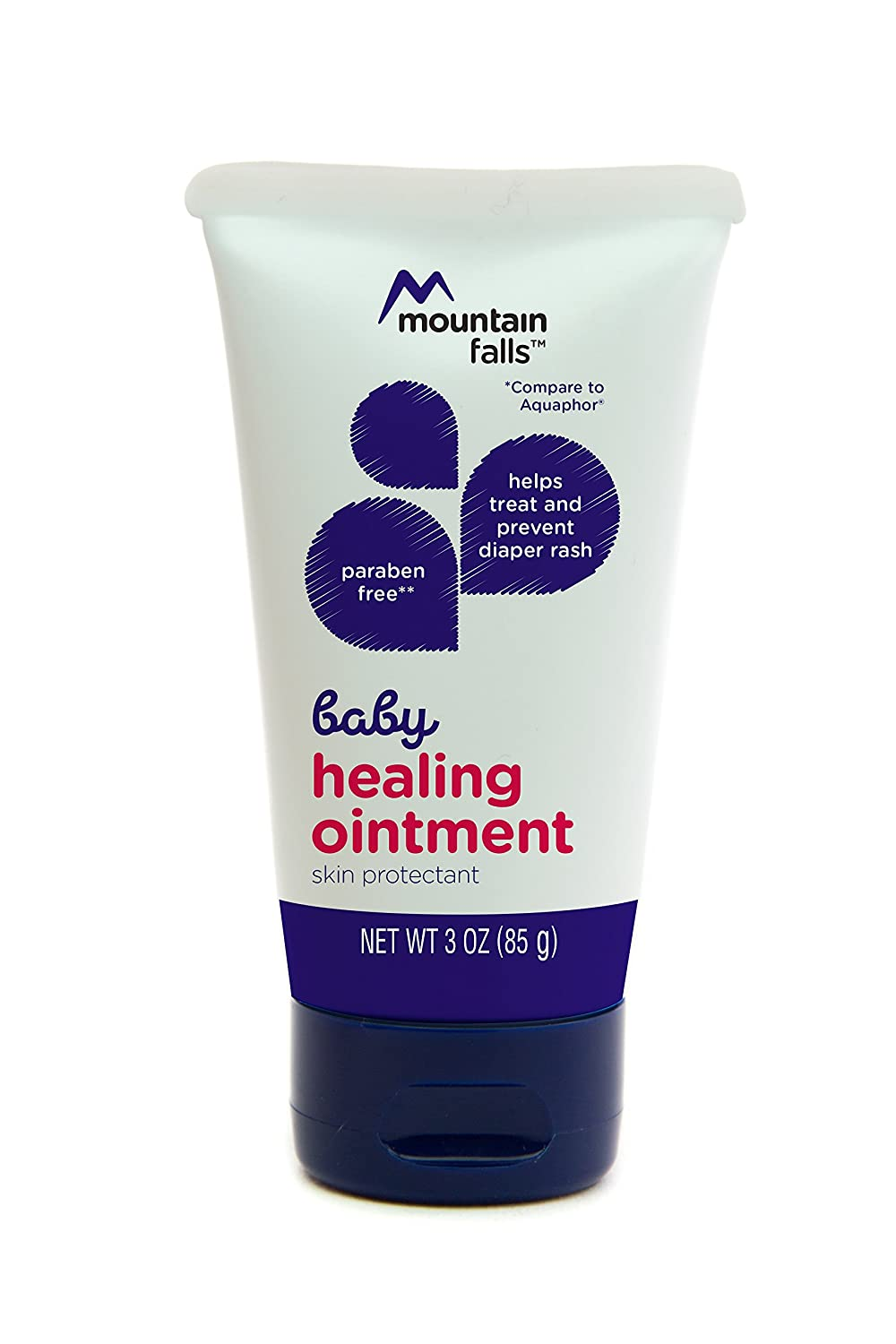 Mountain Falls Baby Healing Ointment for Diaper Rash, Compare to Aquaphor, 3 Ounce