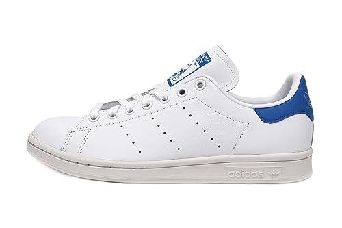 low priced f1388 da2be Amazon.com | adidas Stan Smith Mens in White/True Blue, 8.5 ...