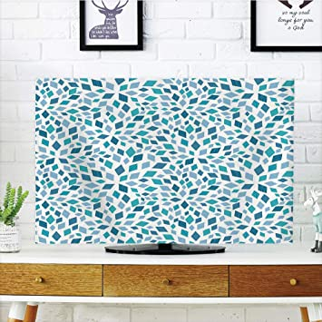 Funda para televisor LCD, diseño de Mosaico en Tonos Azules ...