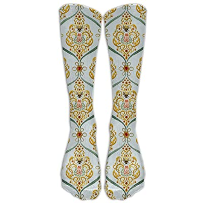 High Boots Crew Bee Texture Pattern Compression Socks Comfortable Long Dress For Men Women